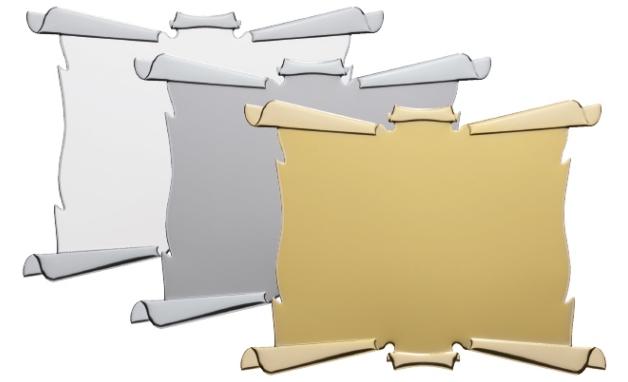targa da premiazione in alluminio per transfer o sublimazione