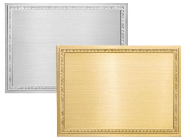 Targa in ottone /ottone silver mod. Impero IMS-IMO