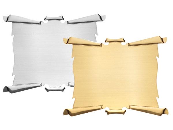 Pergamena in ottone 6 ricci disponibile in ottone silver o ottone PGRS-PGRO