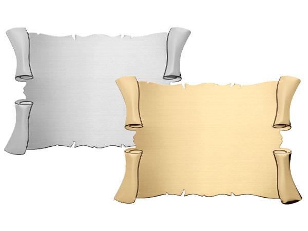 Pergamena in ottone 4 ricci disponibile in ottone silver o ottone PGS-PGO