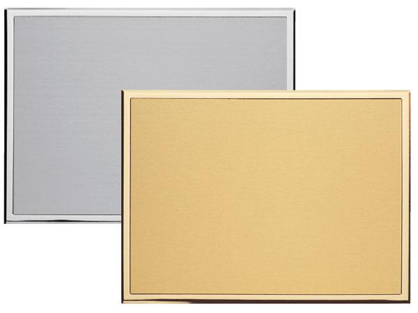 Targa da premiazione in ottone con base in alluminio lucido e inserto in ottone silver