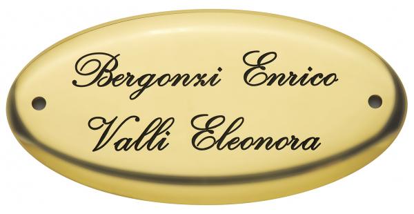 Targa personalizzata da porta - Settore incisoria - Ciak Targhe