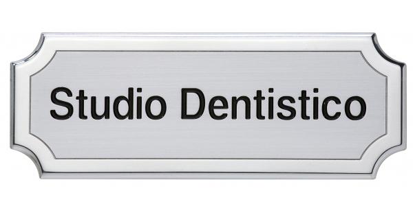Targa personalizzata da porta in alluminio - Settore incisoria - Ciak Targhe
