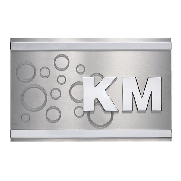 Targa personalizzata da esterno in acciaio - Settore incisoria - Ciak Targhe