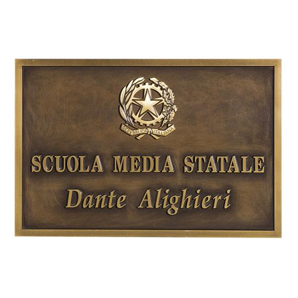 Targa personalizzata da esterno in ottone bronzo - Settore incisoria - Ciak Targhe