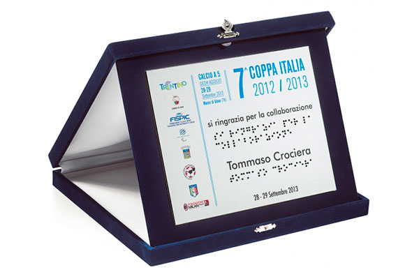 Targa braille - Settore incisoria - Ciak Targhe