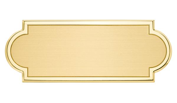 Targa di serie da porta in ottone - Settore incisoria - Ciak Targhe