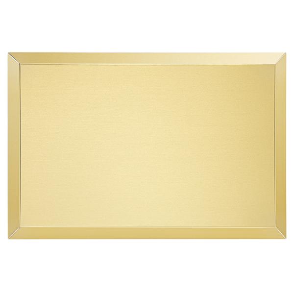 Targa di serie da esterno in alluminio anodizzato oro - Settore incisoria - Ciak Targhe
