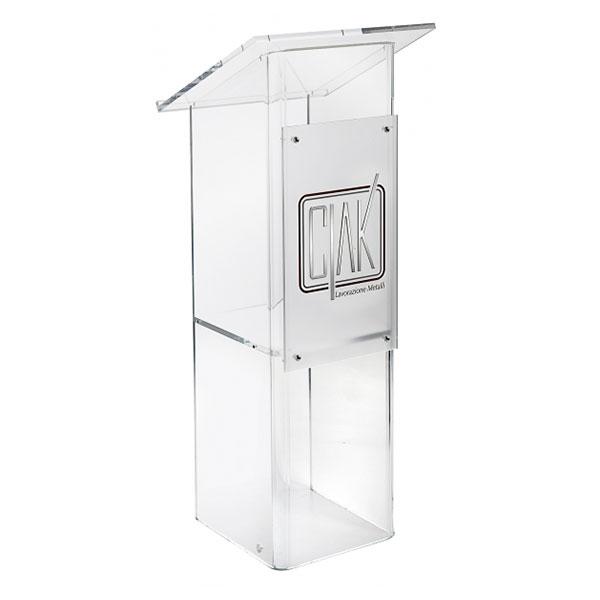 Leggio plexiglass trasparente - Settore alberghiera - Ciak Targhe