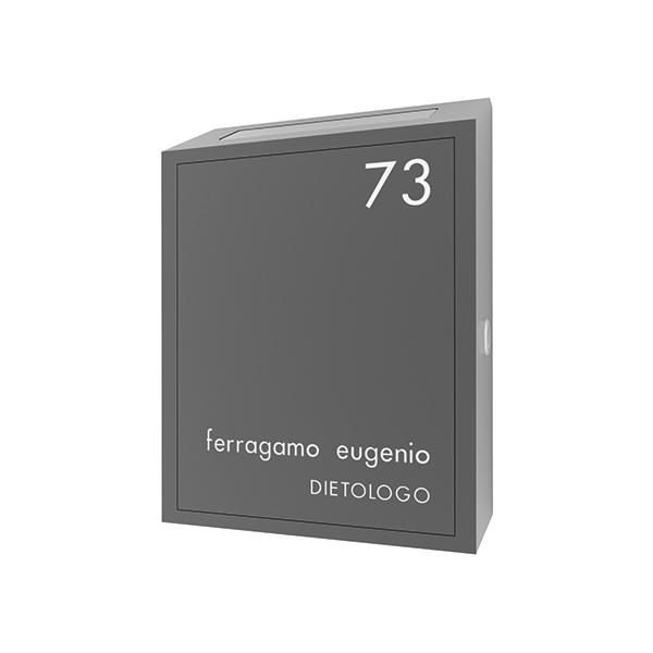 Buca lettere scatolata in ottone grigio micaceo - Ciak Targhe