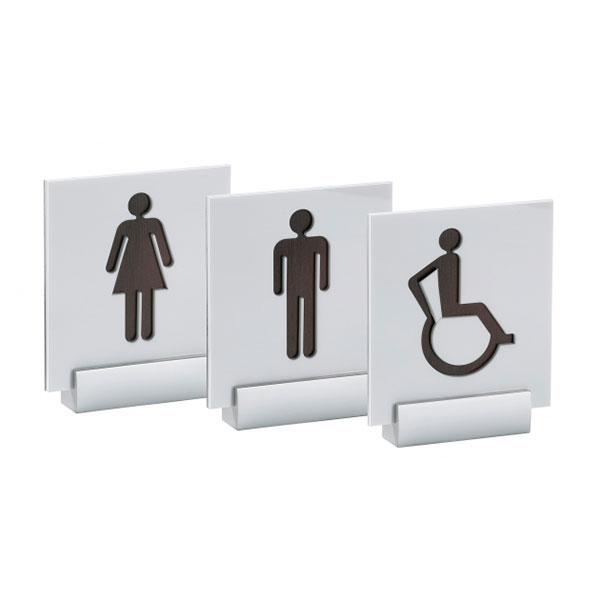 Targa toilette bagno servizi - Settore alberghiera - Ciak Targhe