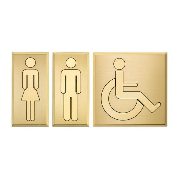 Targhette toilette bagni ottone - Settore alberghiera - Ciak Targhe