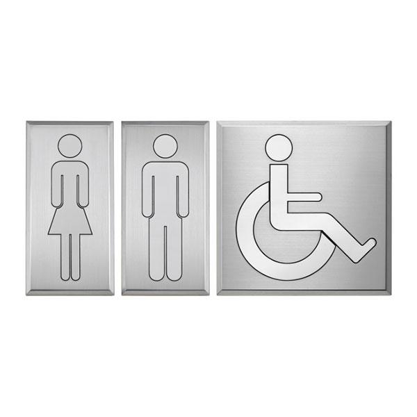 Targa alluminio toilette bagni - Settore alberghiera - Ciak Targhe