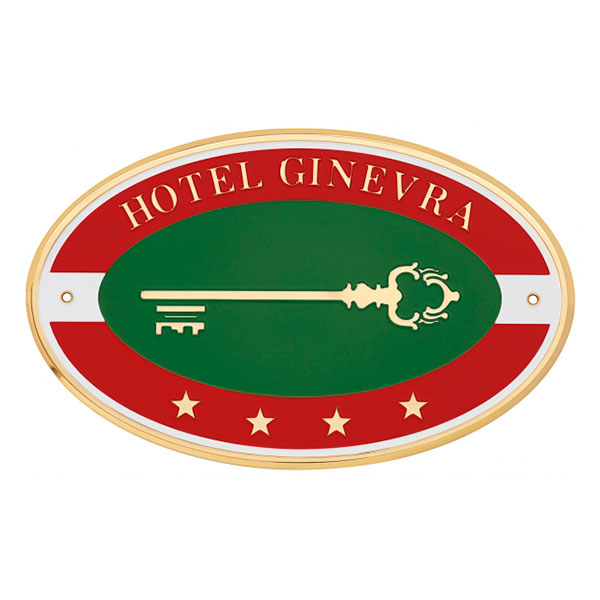 Targa albergo ottone - Settore alberghiera - Ciak Targhe