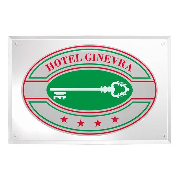 Targa albergo hotel plexiglass - Settore alberghiera - Ciak Targhe