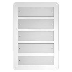 Base portatarghe in metacrilato trasparente con targhe alluminio - Ciak Targhe