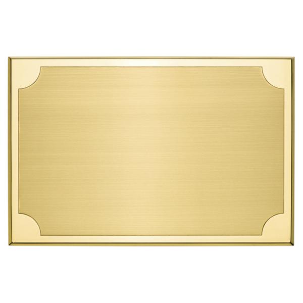 Targa di serie da esterno in ottone - Settore incisoria - Ciak Targhe